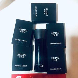 New armani code  2.5 flz/75ml + 5 sample 0.05 oz